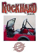 Rock Hard 4x4 Bolt In Factory Style Hoop And Supports For 1976-1978 Jeep Cj5