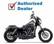 Two Brothers Racing Comp S 2-1 Black Complete Exhaust Pipe 06-17 Harley Dyna