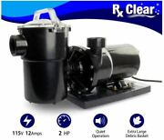 Rx Clear Above Ground 2 Hp Swimming Pool Single Speed Pump - 115v W/ Cord