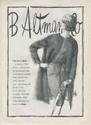 1962 B. Altman And Co Print Ad Sketch Fizzy Mohair And Nylon Coat Jersey Shift Dress
