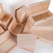 Selection Of Small And Large Wooden Storage Boxes /memory Keepsake Box With Lid