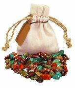 Grounding Power Pouch Healing Crystals Stones Set Tumbled Natural Gemstones