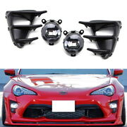 20w Cree Led Drl Driving Fog Light Kit W/bezel Cover/wirings For 17-up Toyota 86