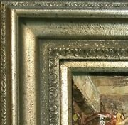 5 Wide Antique Silver Oil Painting Picture Frame 446as Frames4art