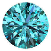 2.8 Mm Certified Round Fancy Blue Color Si Loose Natural Diamond Wholesale Lot