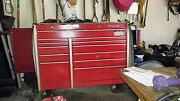 Snapon 12 Drawer Roller Bearing Tool Box Red With Mechanic Tools Included.
