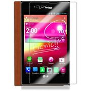Skinomi Full Body Light Wood Tablet Skin+screen Protector Cover For Lg Intuition