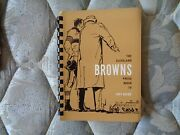1957 Cleveland Browns Media Guide Press Book Jim Brown R Yearbook Program Ad
