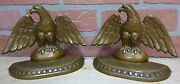 Antique Perched Eagle 13 Star James Graham Co New Haven Conn Usa Bronze Bookends
