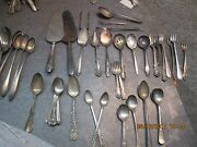 Lot 242 Pieces Vintage Silver Plate Tableware Several Different Patterns