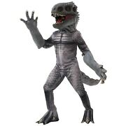 Adult T-rex Jurassic Dinosaur Costume Menand039s Raptor Cosplay Latex Mask And Hands