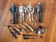 Hasbro Gi Joe Action Figure Lot Of Four Figures With Accessories And Guns