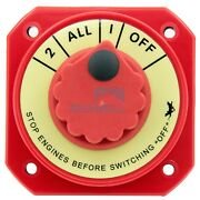 Marine Battery Switch Selector 4 Position Power Dual Battery Isolator Boat Rv