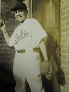 Antique African American Catcher Glove Baseball Player Cubs Uniform Early Photo
