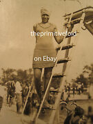 Antique African American Flapper Beauty Douglas Park Pool Indianapolis In Photos