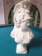 Vintage Nouveau Made In Italy, Mars God Bust Statue Chalkware Plaster Ceramic