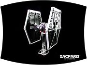 Display Stand For Star Wars Lego 9492 Imperial Tie Fighter - Clear Acrylic Nice