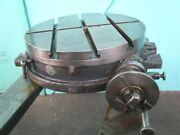 Brown And Sharpe 18 Rotary Table Good Condition With Dividing Attachment