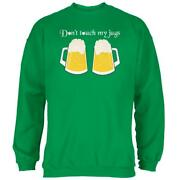 St. Patrickand039s Day Donand039t Touch My Beer Jugs Mens Sweatshirt