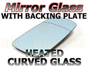 New Driver Side Convex Mirror Glass + Heated Plate Renault Clio 09