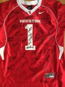 Houston Cougars Signed Jersey Signed By All Peach Bowl Champion Team