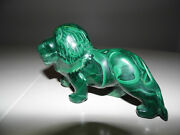Antique Hand Carved Table Sculpture Of A Lion Big Over A Pound Solid Russian Gem