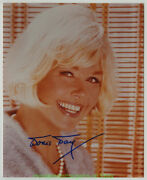 Doris Day Autographed Photo From The 1980's 8 By 10 Inch Color Head And Shoulders