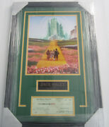 Jack Haley Tin Man Wizard Of Oz Signed Auto Business Check Framed Matted Sgc Coa
