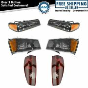 Headlight Parking Light Tail Lamp Kit Set Of 6 For 04-12 Colorado Canyon Truck