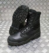 Genuine British Army Issue Magnum Black Steel Toe Cap Boots Hot Weather - New