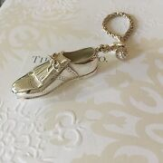 Authentic And Co. Shoe Key Ring 44g Retired Vintage Keychain Silver Rare