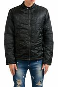 Versace Versus Menand039s Black Lightly Insulated Full Zip Jacket Size Xs S M L
