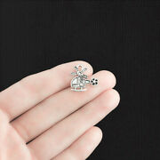 Bulk 50 Helicopter Charms Antique Silver Tone - Sc1359