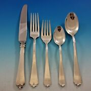 Lotus By Watson Sterling Silver Flatware Set For 8 Service 44 Pieces
