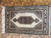 2and039-7x 4and039 Older Persian Silk Qum Rug - 100 Silk Pile 100 Hand-knotted