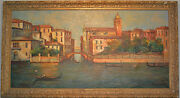 Oil Painting On Canvas Venice Italy Large 4and0394x 2and0395 T L Novaretti