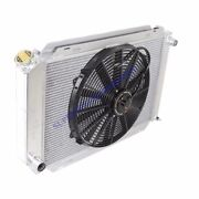 Aluminum Racing 3 Row Radiator+16 Fans Fits 79-93 Ford Mustang Glx Lx Gt Svt