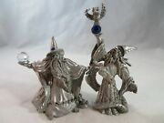 Vintage Decorative Collectibles Spoontiques Pewter Wizards