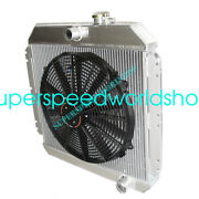 Aluminum Racing 3 Row Radiator+16 Fans Fits 49-52 Chevy Styleline V8 Mt