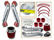 Bcp Red 90-96 300zx Non-turbo Na Short Ram Air Intake Racing System + Filter
