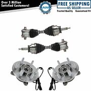 4 Piece Steering Kit Wheel Hub And Bearings W/ Cv Axle Assemblies For Ford F150