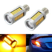 No Hyper Flash 25w Amber 1156 Canbus Led Bulbs For Front/rear Turn Signal Light