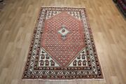 Old Hand Made Persian Traditional Mahal Rug, With Boteh Design 210 X 125 Cm