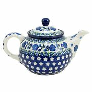 Polish Pottery Hand Crafted 24 oz (3 cup) Teapot 264-Spring Melody