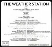 The Weather Station - The Weather Station Used - Very Good Cd