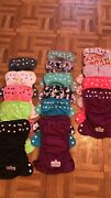 16 Size 1 Applecheeks Cloth Diapers. In Amazing Condition. No Stink Or Stain.