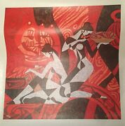 Zu Ming Ho Painting Pottery Red L/e S/n 20x20 Giclee Canvas Coa 191/195