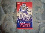 1947 New York Giants Roster Media Guide Yearbook Press Book Program Nfl Ad