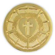 Pinmartand039s Gold Plated Lutheran Seal Luther Rose Religious Lapel Pin
