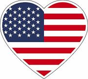 Flag American Sticker Decal Car Heart Logo Laptop Phone Sign Usa Made Buy2get3rd